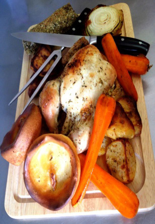 Roast on Carving board